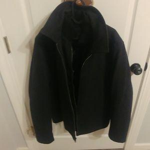 Double zipper coat